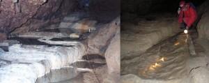 Zkamenělá řeka před zátopou a po zátopě