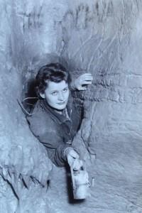 Eva Davidová v Pochvì v Labyrintu Foto: JH podzim 1961
