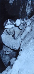 V propasti Pìtadvacítce v Ochozské jeskyni. foto JH okolo roku 1965