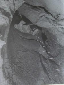 Plánivy - sestup u vodopádu. foto JH 12.11.1960
